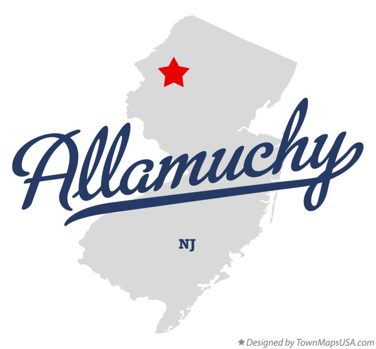 Map of Allamuchy New Jersey NJ