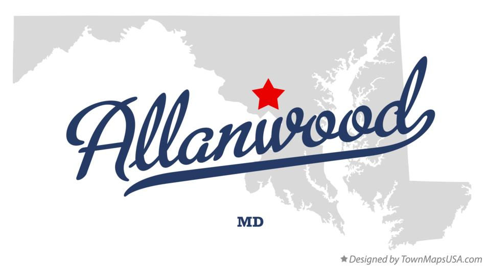 Map of Allanwood Maryland MD