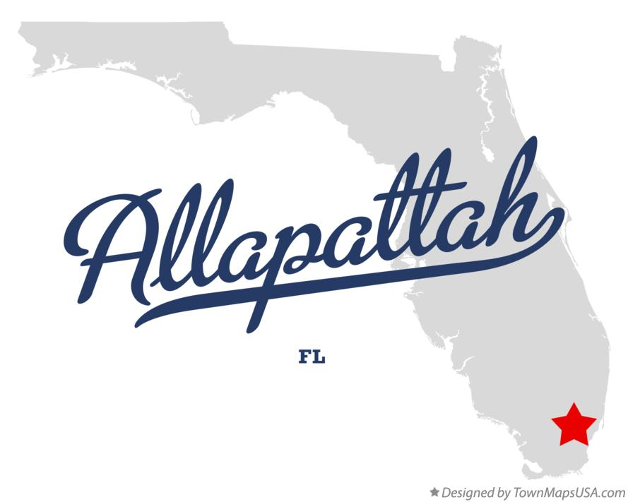 Map of Allapattah Florida FL