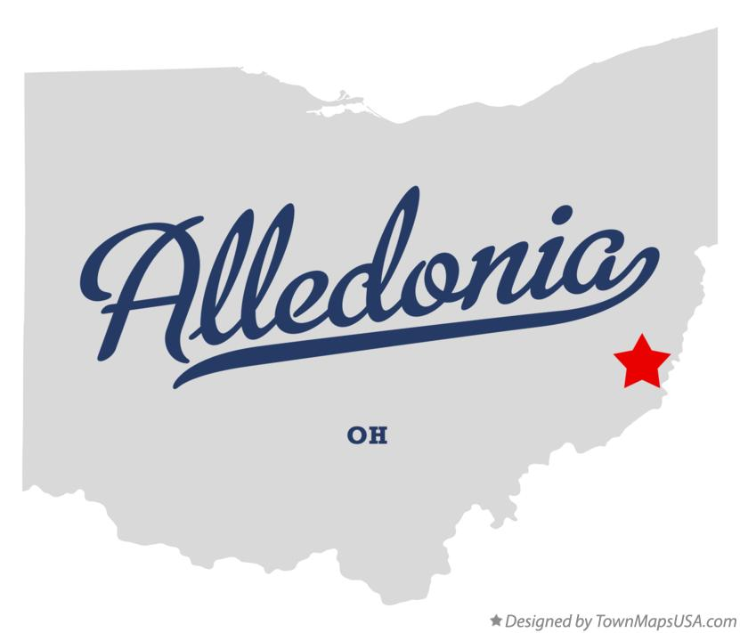 Map of Alledonia Ohio OH