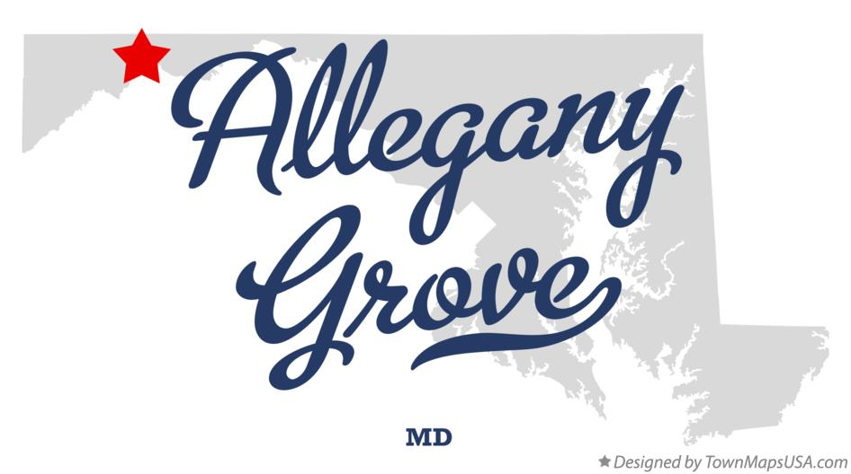 Map of Allegany Grove Maryland MD
