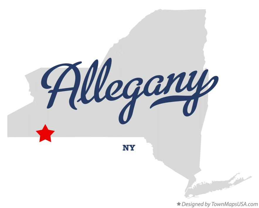 Map of Allegany New York NY