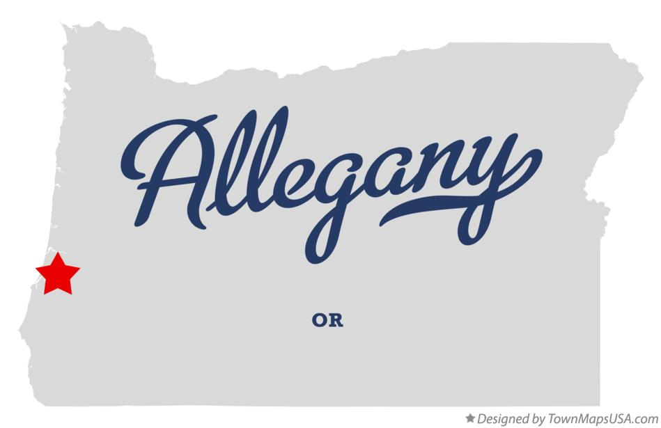 Map of Allegany Oregon OR