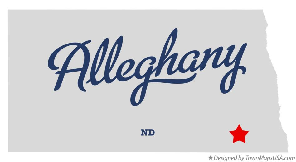 Map of Alleghany North Dakota ND