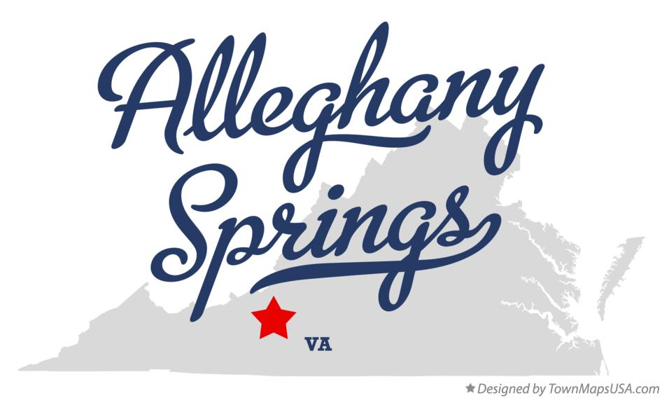 Map of Alleghany Springs Virginia VA