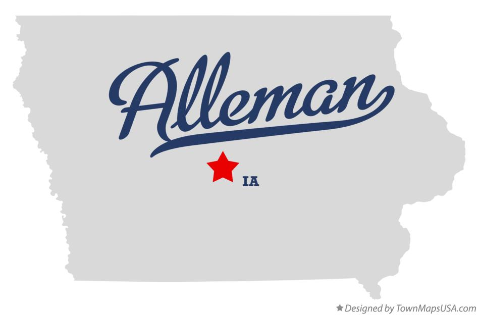 Map of Alleman Iowa IA