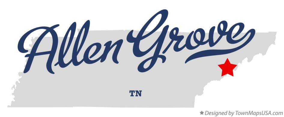 Map of Allen Grove Tennessee TN