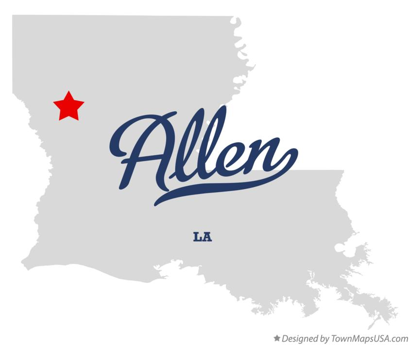 Map of Allen Louisiana LA