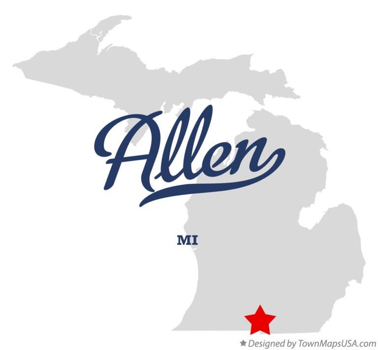 Map of Allen Michigan MI