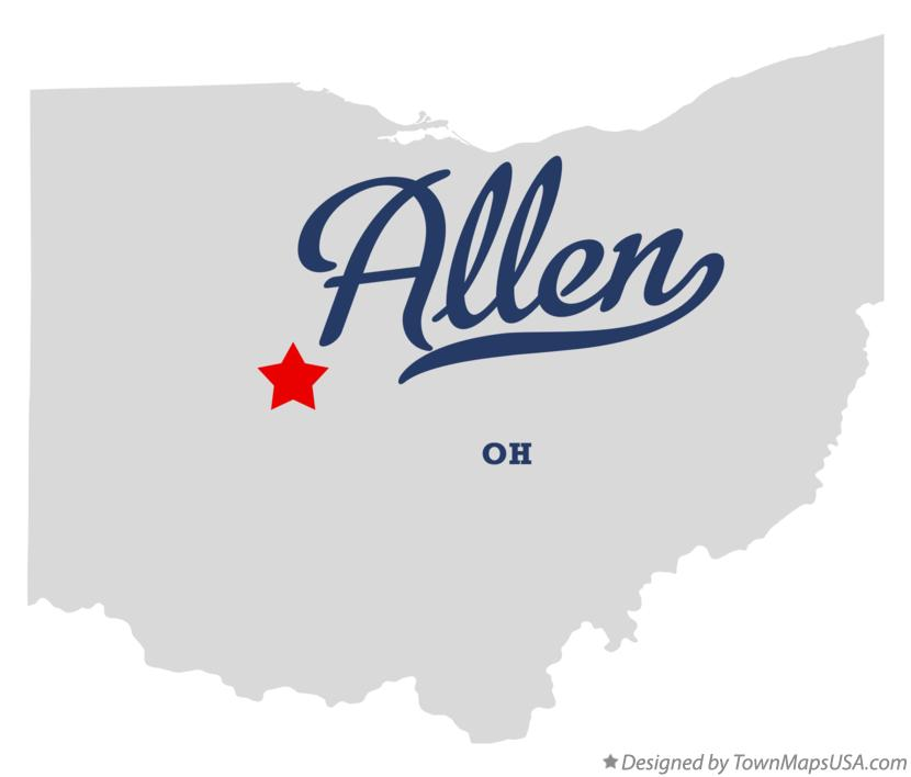 Map of Allen Ohio OH