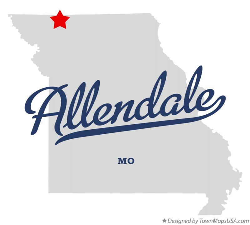 Map of Allendale Missouri MO