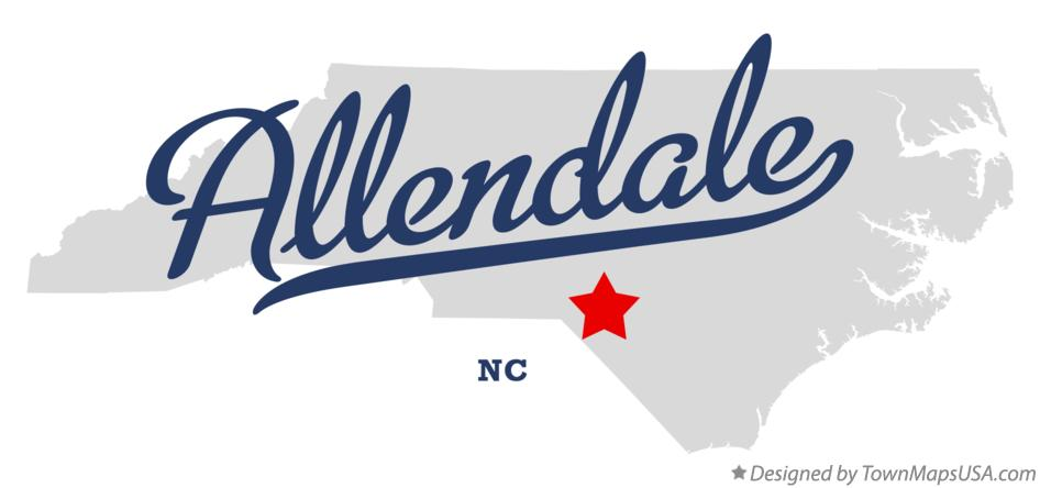 Map of Allendale North Carolina NC