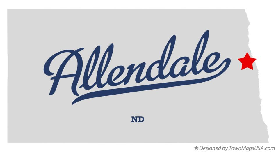 Map of Allendale North Dakota ND