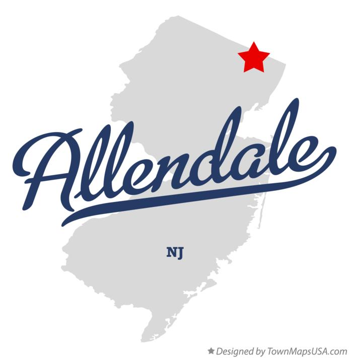 Map of Allendale New Jersey NJ