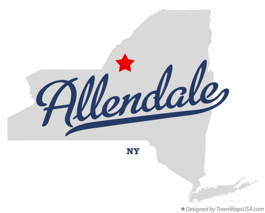 Map of Allendale New York NY