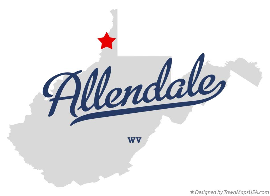 Map of Allendale West Virginia WV