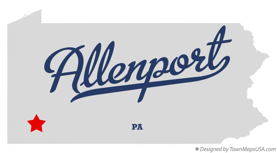 Map of Allenport Pennsylvania PA