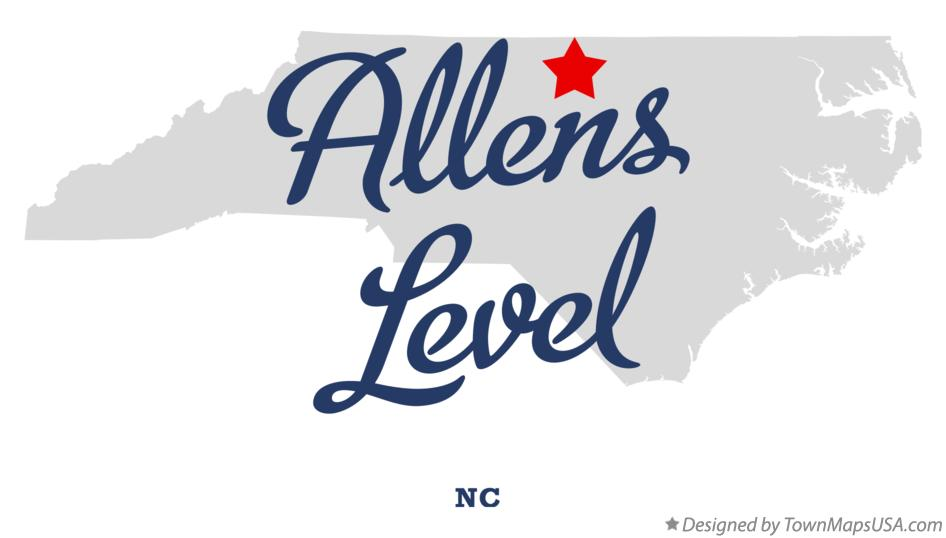 Map of Allens Level North Carolina NC