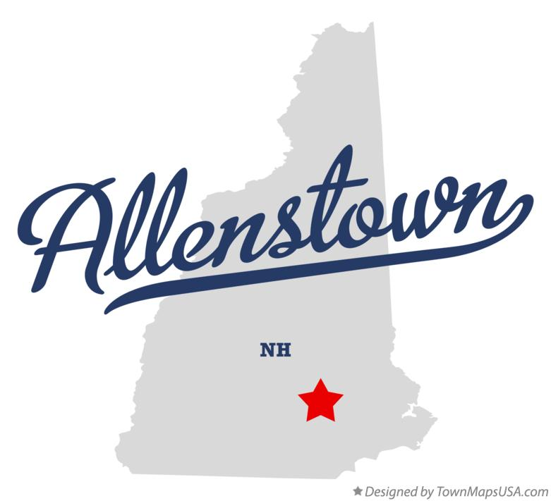 Map of Allenstown New Hampshire NH