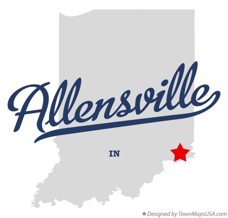 Map of Allensville Indiana IN