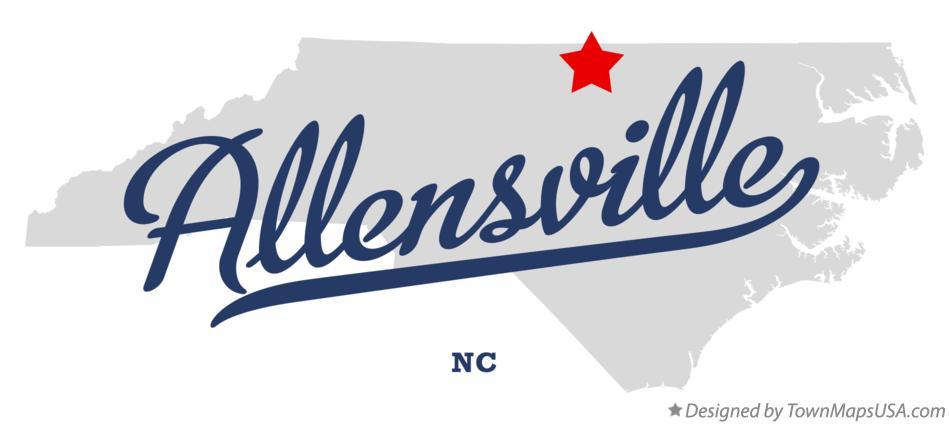 Map of Allensville North Carolina NC