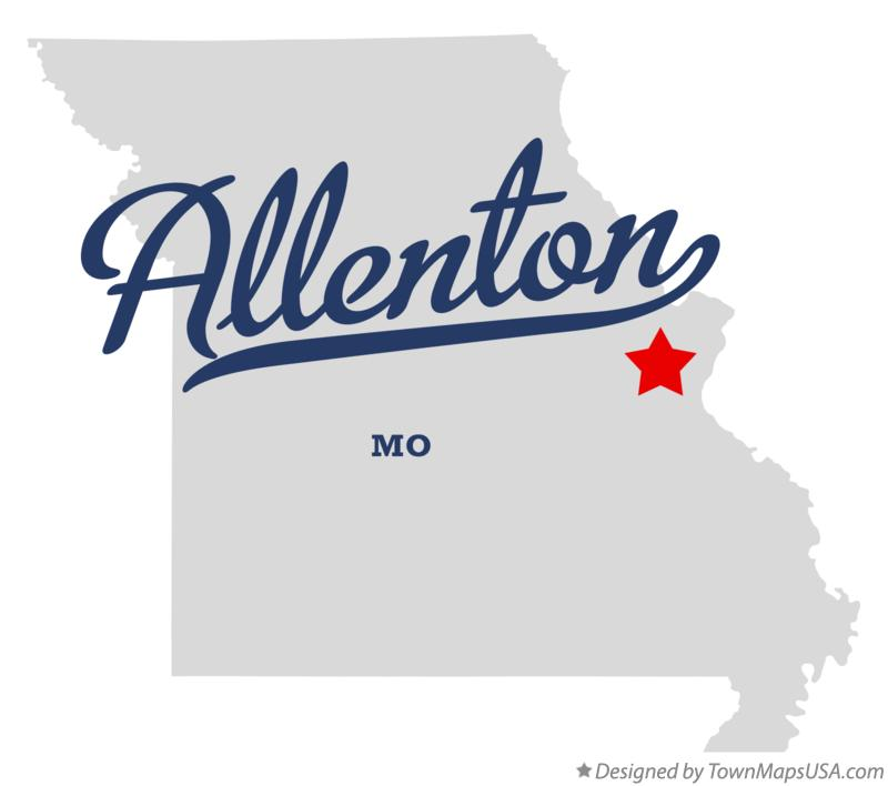Map of Allenton Missouri MO