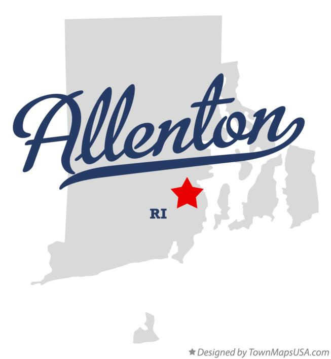 Map of Allenton Rhode Island RI