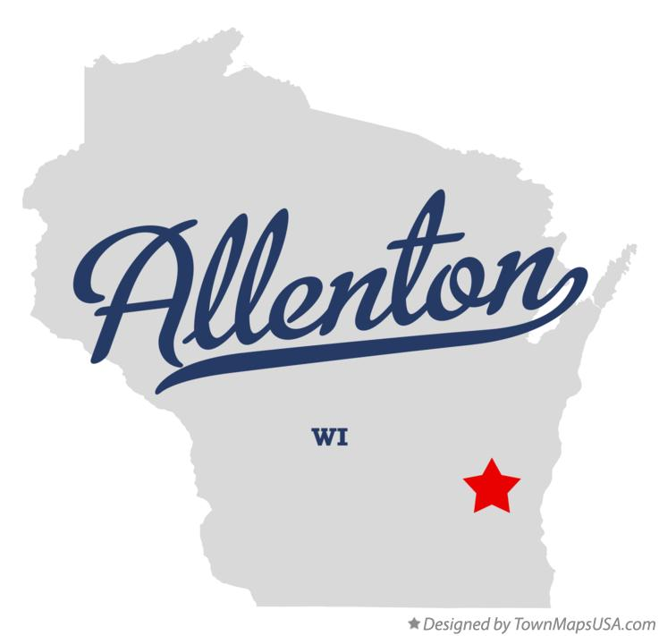 Map of Allenton Wisconsin WI