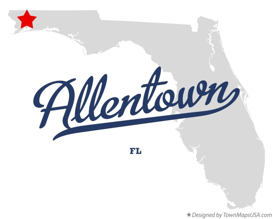 Map of Allentown Florida FL