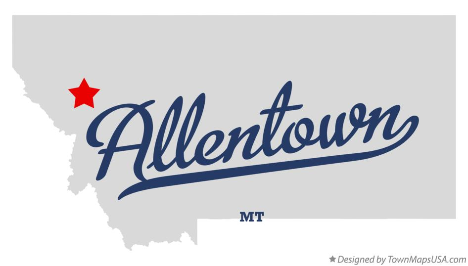 Map of Allentown Montana MT