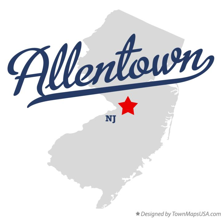 Map of Allentown New Jersey NJ