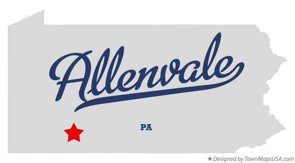 Map of Allenvale Pennsylvania PA