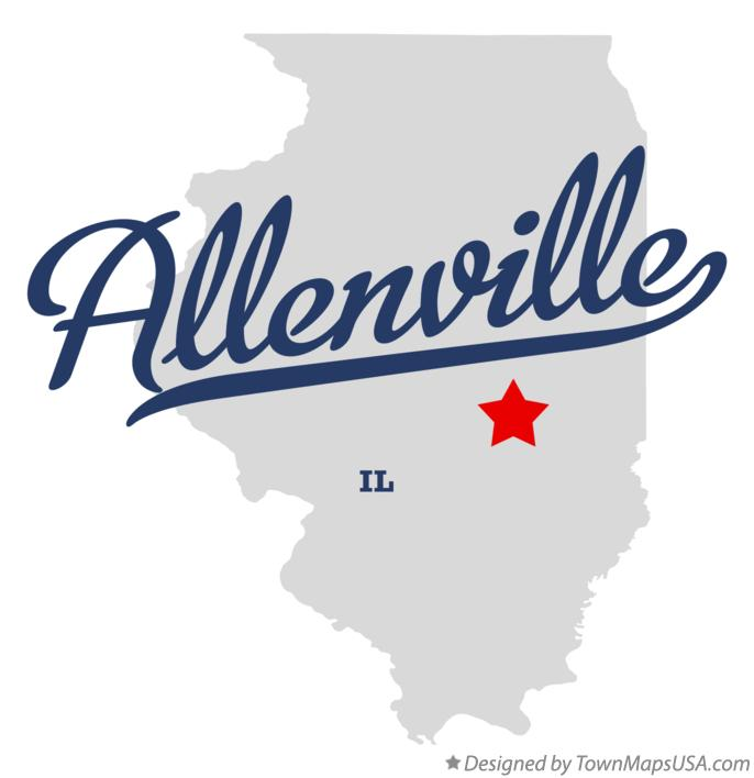 Map of Allenville Illinois IL
