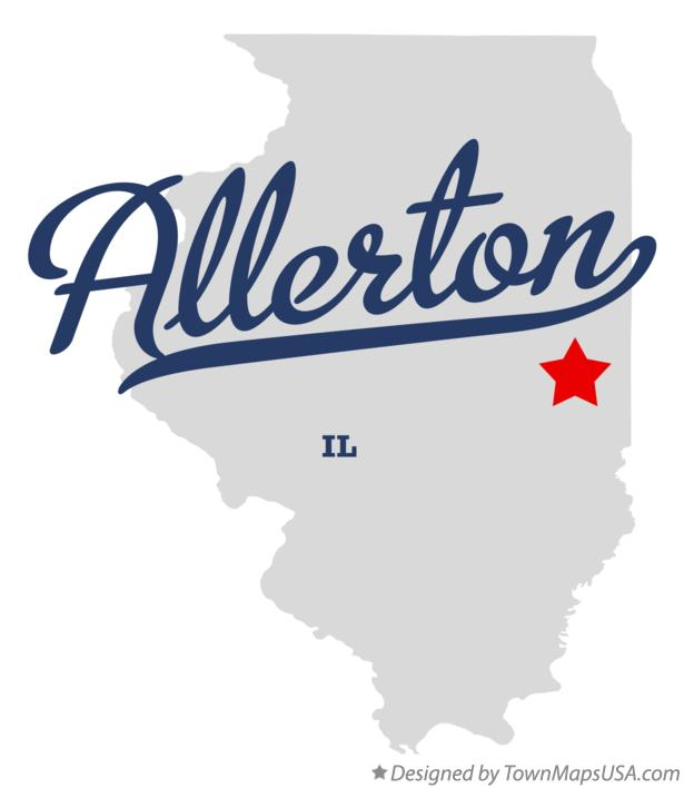 Map of Allerton Illinois IL