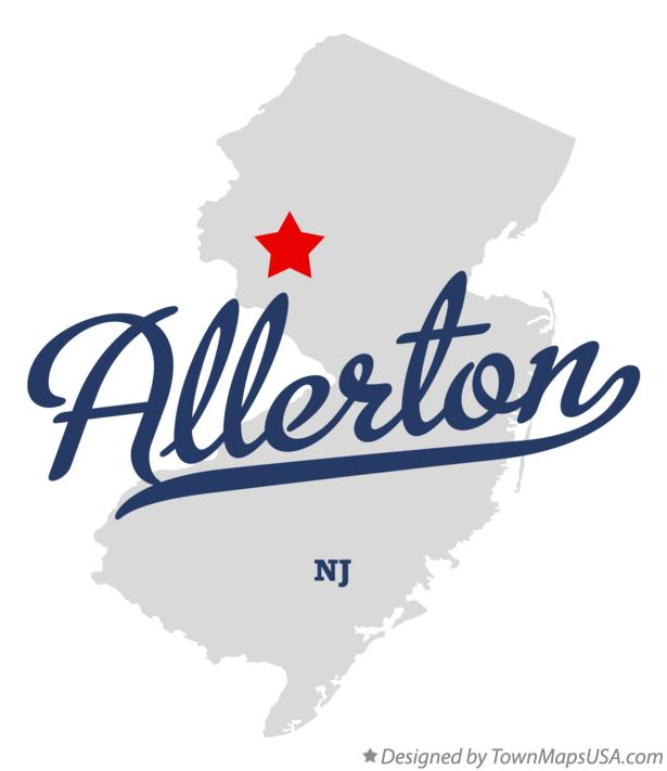 Map of Allerton New Jersey NJ