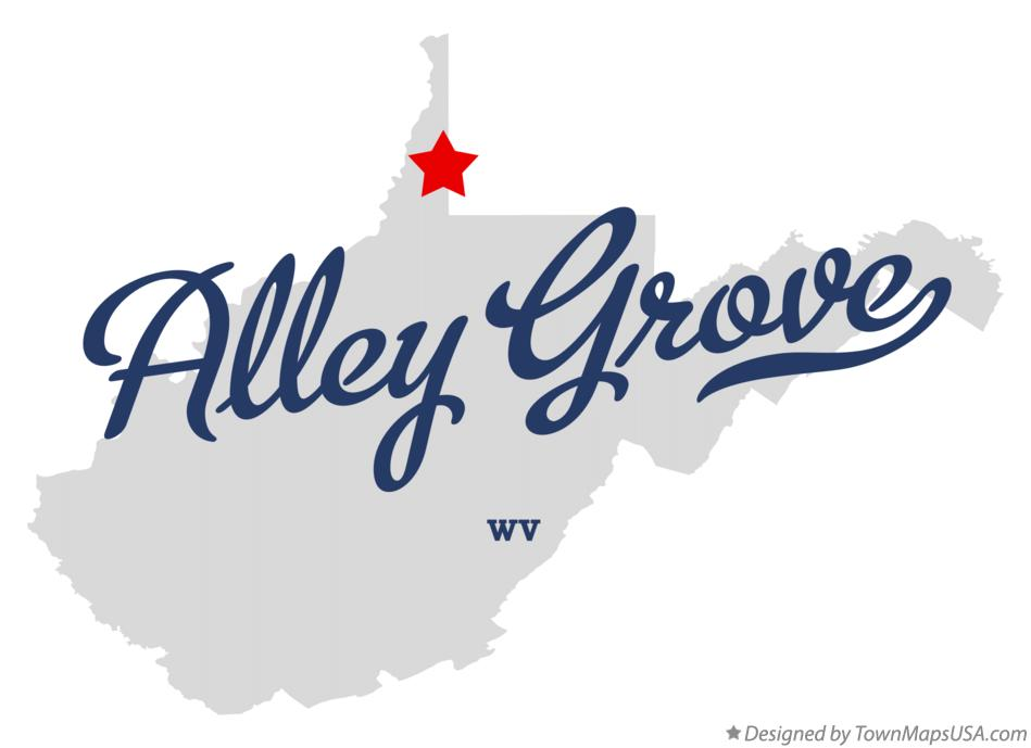 Map of Alley Grove West Virginia WV