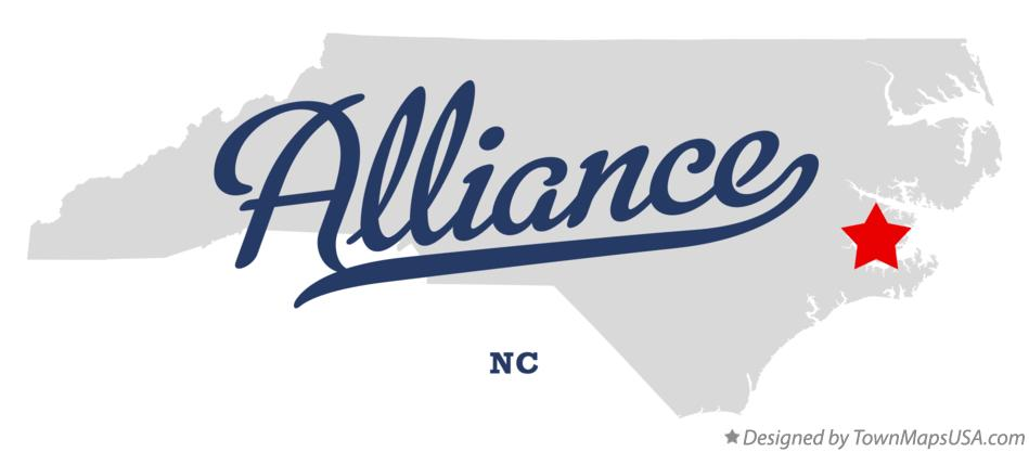 Map of Alliance North Carolina NC