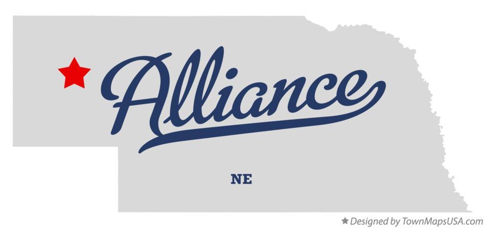 Map of Alliance, NE, Nebraska