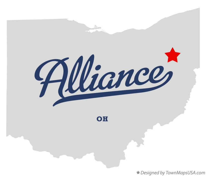 Map of Alliance Ohio OH