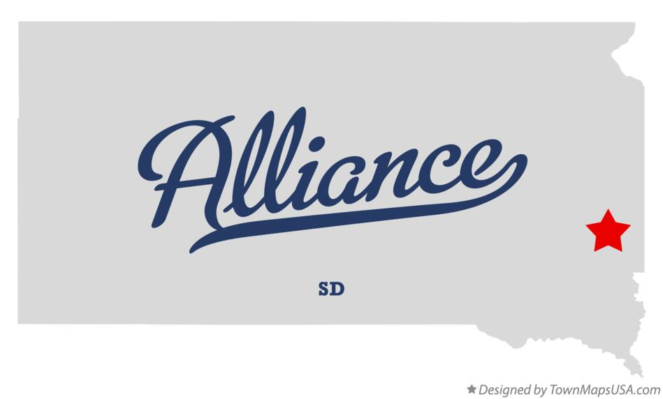 Map of Alliance South Dakota SD