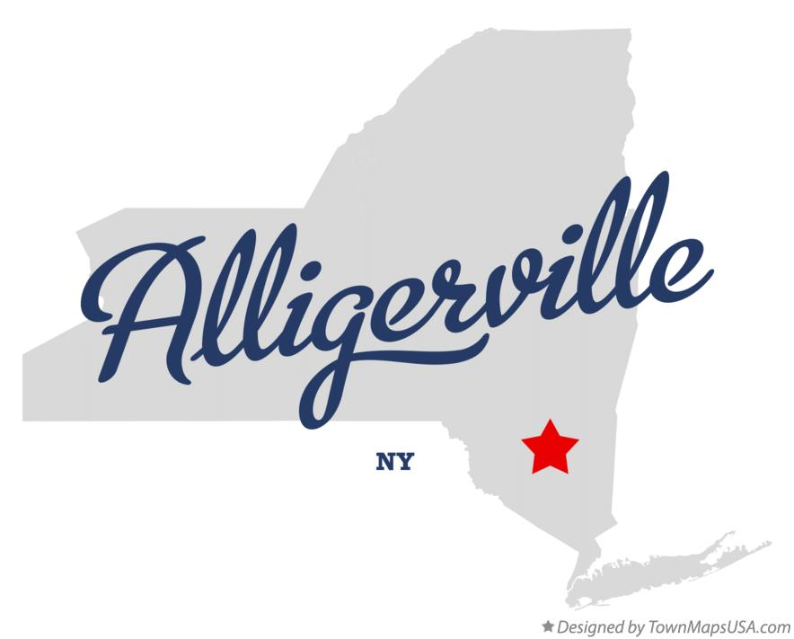 Map of Alligerville New York NY