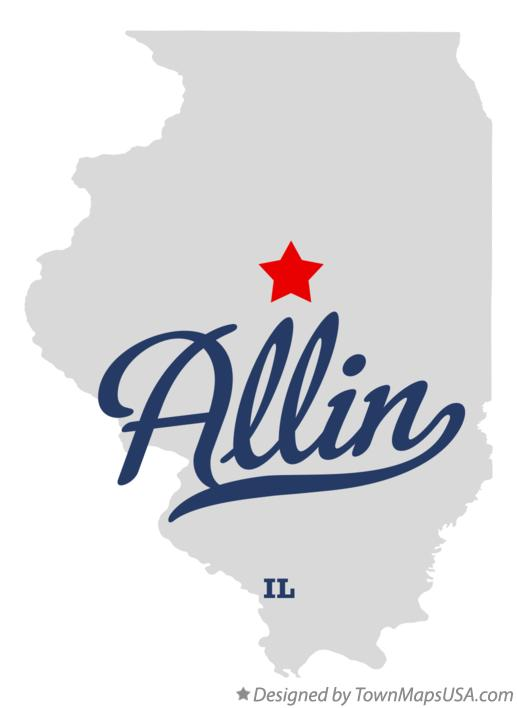 Map of Allin Illinois IL