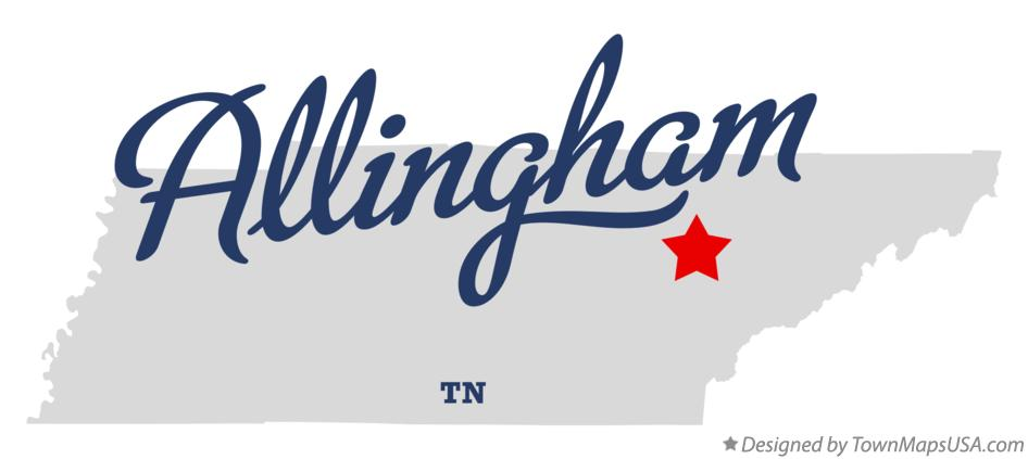 Map of Allingham Tennessee TN