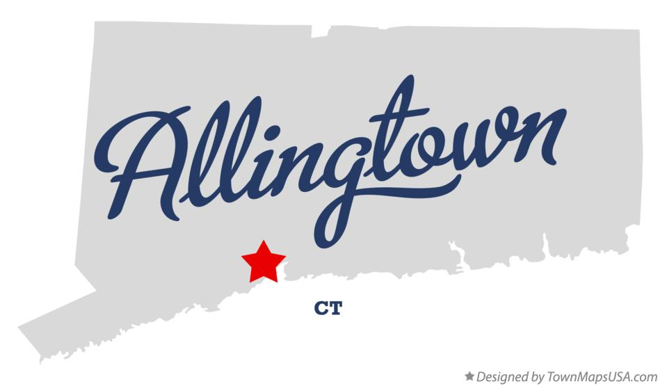 Map of Allingtown Connecticut CT