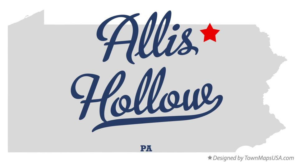 Map of Allis Hollow Pennsylvania PA