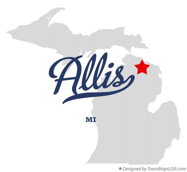 Map of Allis Michigan MI