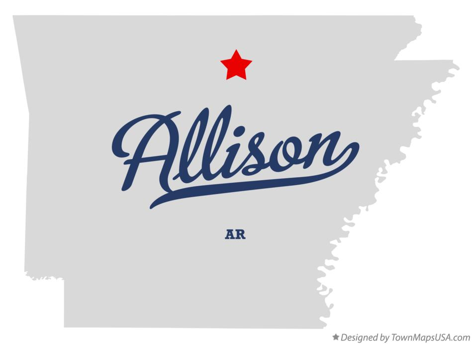 Map of Allison Arkansas AR