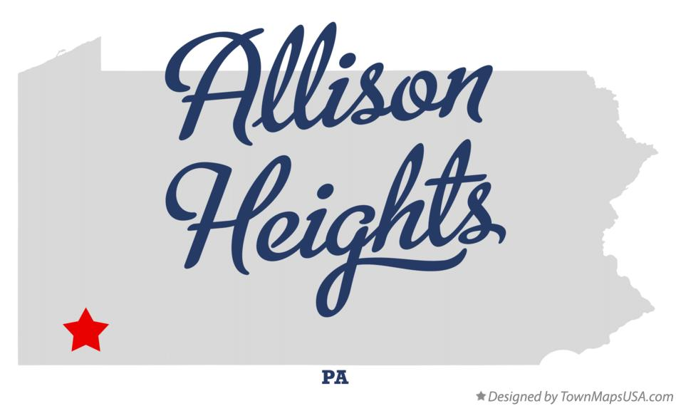 Map of Allison Heights Pennsylvania PA