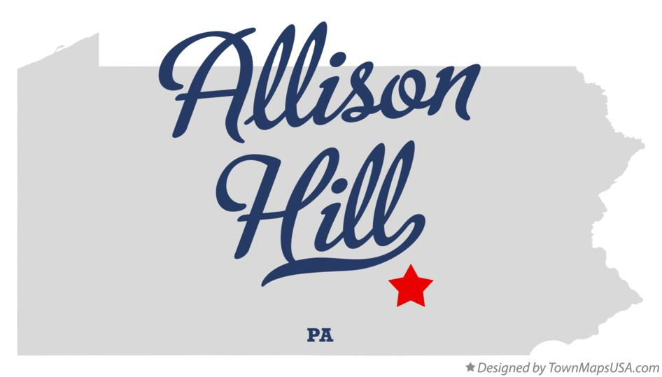 Map of Allison Hill Pennsylvania PA