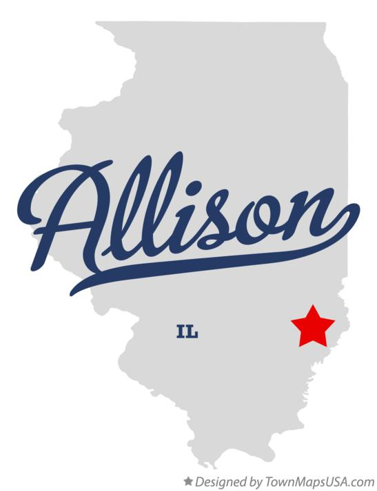 Map of Allison Illinois IL